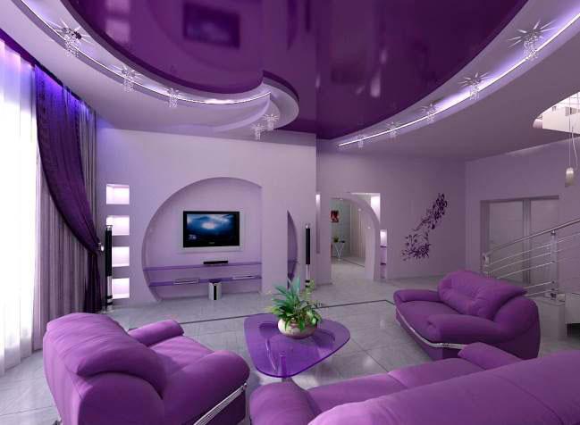 Фиолетовый потолок фото
